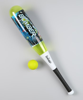 Green Bozagga Bomber Bat & Ball