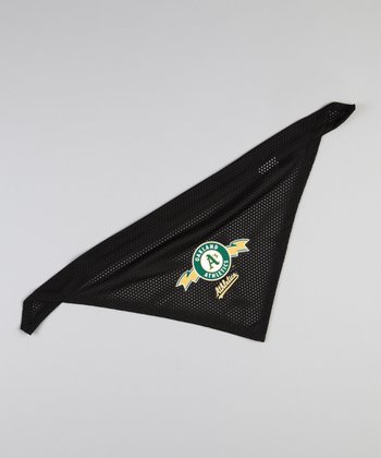 Black Oakland Athletics Pet Bandanna