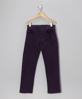 Purple Straight-Leg Jeans - Boys