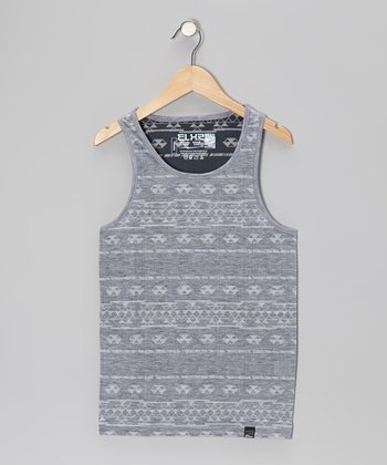 Gray Tribal Tank
