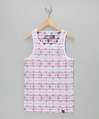 Red & White Tribal Tank
