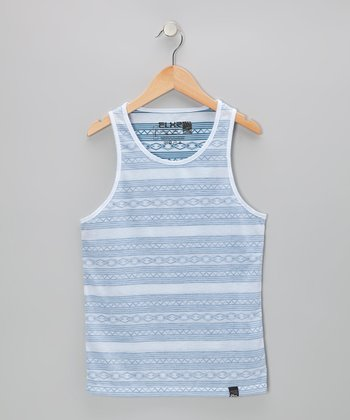 Teal Stripe Tank