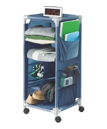 Cobalt Blue Rolling Storage Cart
