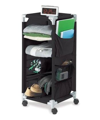 Black Wheeled Storage Cart