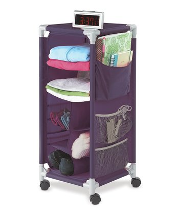 Eggplant Wheeled Storage Cart