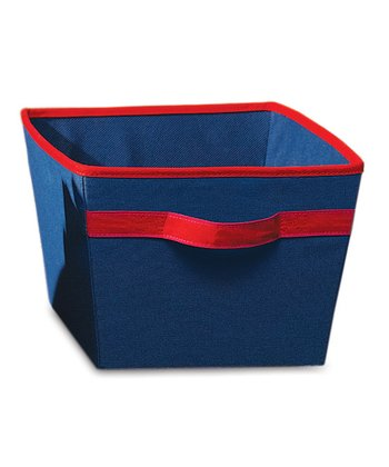 Navy & Red Storage Bin