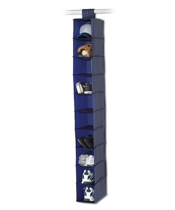 Navy & Gray 10-Shelf Hanging Organizer