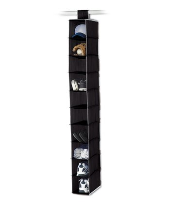 Black 10-Shelf Hanging Organizer