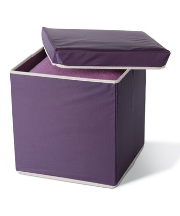 Eggplant Collapsible Storage Ottoman