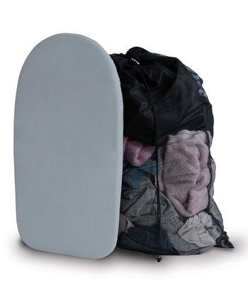 Gray & Black Mesh Bag & Countertop Ironing Board