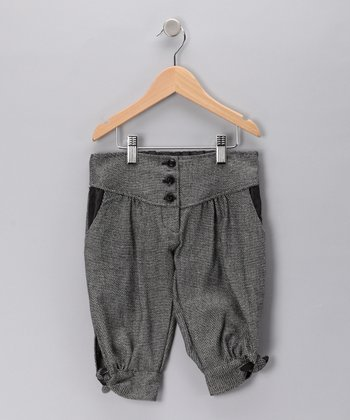 Black & White Tweed Capri Pants - Toddler & Girls