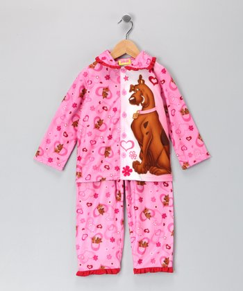 Pink Scooby Pajamas - Girls