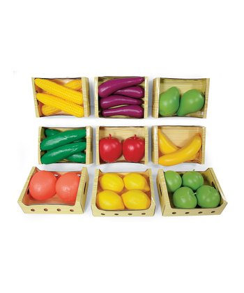Fruits & Vegetables Crate Set
