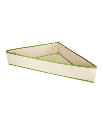 Natural & Green Corner Storage Shelf