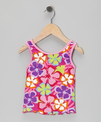 Fuchsia Luau Tankini Top - Infant, Toddler & Girls