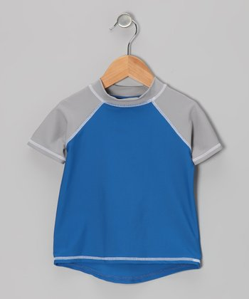 Blue & Gray Rashguard - Infant, Toddler & Boys