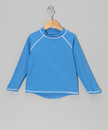Blue Long-Sleeve Rashguard - Infant, Toddler & Boys
