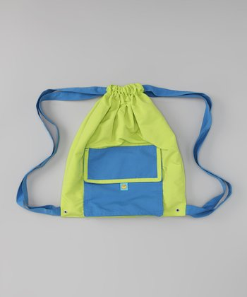 Blue & Green Swim Bag