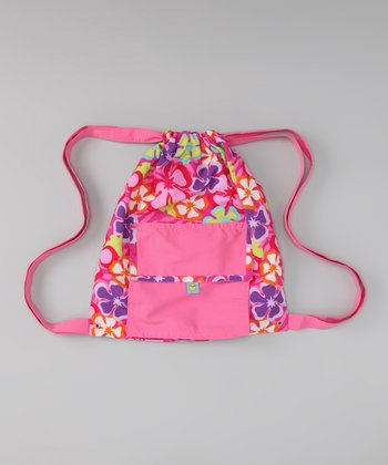 Pink Luau Swim Bag