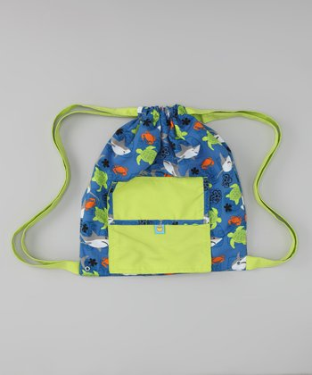 Blue & Green Shark Swim Bag