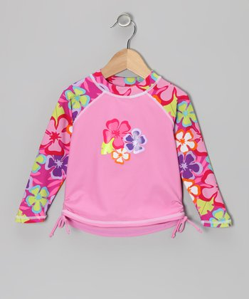 Pink Luau Long-Sleeve Rashguard - Infant