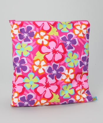 Pink Luau Waterproof Swimsuit Bag