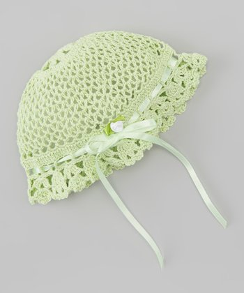 Green Bow Crocheted Beanie