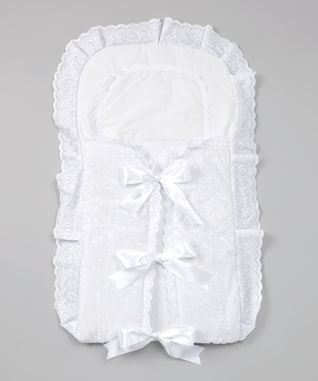 White Elegant Bow Blanket