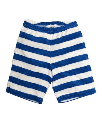 Blue Stripe Velour Shorts - Toddler & Boys