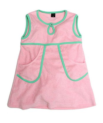 Soft Pink Velour A-Line Dress - Infant, Toddler & Girls