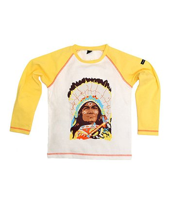 White Indian Raglan Tee - Boys