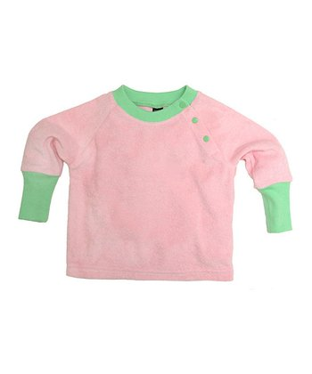 Soft Pink Velour Snap Top - Infant & Toddler
