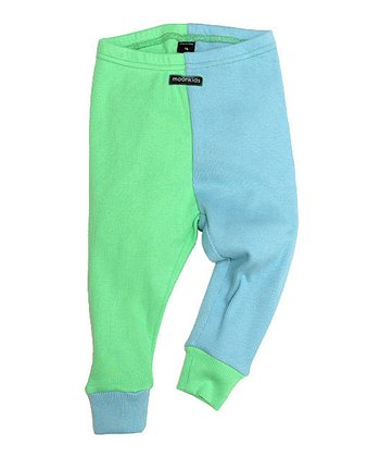 Ice Blue & Bleach Green Leggings - Infant & Toddler