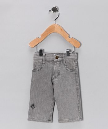 Gray Straight-Leg Jeans - Infant
