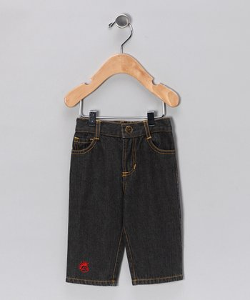 Black Straight-Leg Jeans - Infant