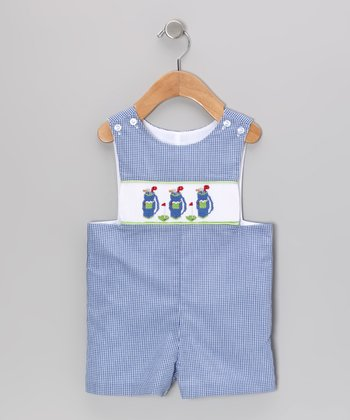 Blue Gingham Golf John Johns - Infant & Toddler