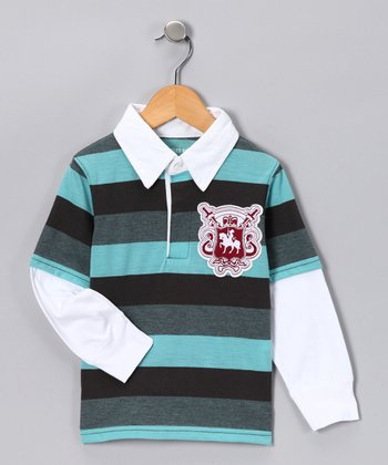 Maui Stripe Layered Polo - Toddler & Boys