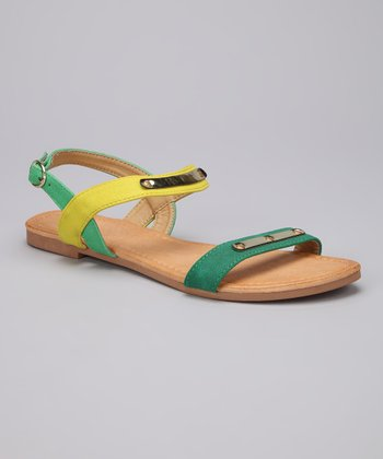 Light Green & Yellow Darlene Sandal