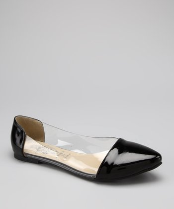 Black & Clear Deby Flat