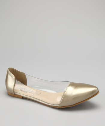 Gold & Clear Deby Flat