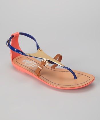 Blue Jelly Sandal