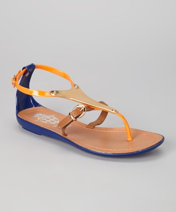 Orange Jelly Sandal