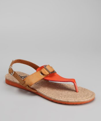 Orange Nelly Sandal
