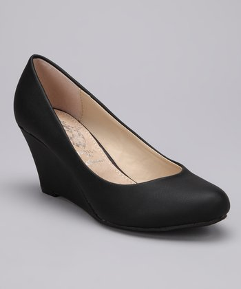 Black Vica Wedge