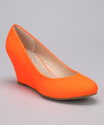 Orange Vica Wedge