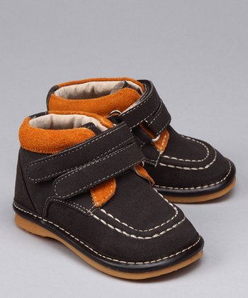 Brown & Orange Suede Squeaker Boot