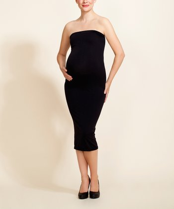Black Magic Maternity Tube Dress