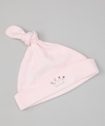 Pink Crown Single-Knot Beanie