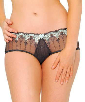 Charcoal & Seafoam Romance Briefs - Women
