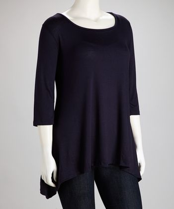 Eggplant Sidetail Tunic - Plus